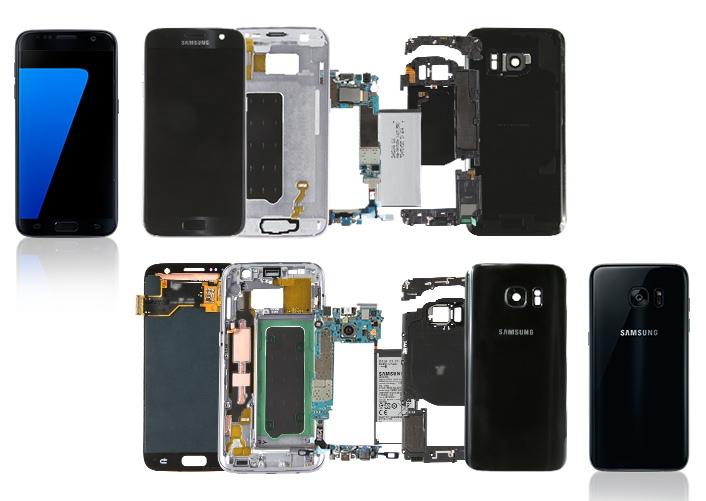 Samsung Galaxy S7 rastavljen